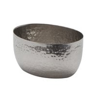 American Metalcraft HS8 8 oz. Oval Hammered Stainless Steel Sauce Cup