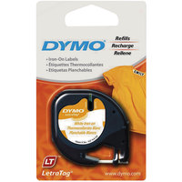 DYMO 18771 LetraTag 1/2 inch x 6 1/2' White Iron-On Fabric Label Tape