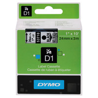 DYMO 53710 D1 1 inch x 23' Black on Clear High-Performance Polyester Removable Label Tape