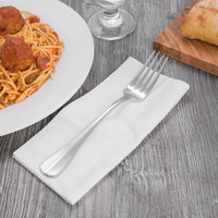 Oneida T148FDIF Baguette 8 5/8 inch 18/10 Stainless Steel Extra Heavy Weight European Size Table Fork - 12/Case