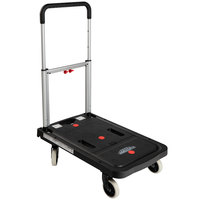 Harper FFTS Magna Cart Flatform Truck 300 lb. Folding Platform Dolly with Telescoping Handle and 4 inch Solid Rubber Wheels