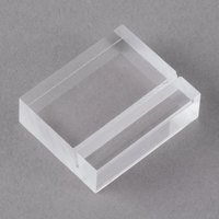 American Metalcraft LK50 1 1/4 inch Clear Acrylic Card Holders with Carrying Case   - 50/Set