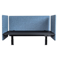 Luxor RCLM3D4824PB RECLAIM Pacific Blue Desk Mount Privacy Panel Set with (1) 48 inch x 24 inch Panel and (2) 24 inch x 24 inch Panels