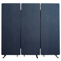 Luxor RCLM7266ZSB RECLAIM Starlight Blue Room Divider Set with 3 Panels - 72 inch x 66 inch