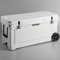 CaterGator CG100WHW White 100 Qt. Mobile Rotomolded Extreme Outdoor Cooler / Ice Chest
