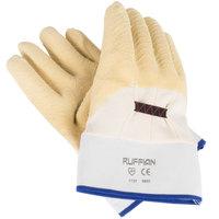 San Jamar 1000 Yellow Rubber Oyster Shucking Gloves, Pair