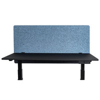 Luxor RCLM4824PB RECLAIM Pacific Blue 48 inch x 24 inch Desk Mount Privacy Panel