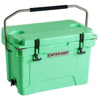CaterGator CG20SF Seafoam 20 Qt. Rotomolded Extreme Outdoor Cooler / Ice Chest