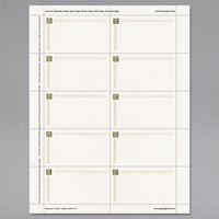 Geographics 47367S 3 1/2 inch x 2 inch Ivory Capital Gold Design Business Cards - 150/Pack