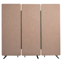 Luxor RCLM7266ZDS RECLAIM Desert Sand Room Divider Set with 3 Panels - 72 inch x 66 inch