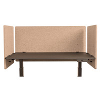 Luxor RCLM3D4824DS RECLAIM Desert Sand Desk Mount Privacy Panel Set with (1) 48 inch x 24 inch Panel and (2) 24 inch x 24 inch Panels