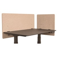 Luxor RCLM2D4824DS RECLAIM Desert Sand Desk Mount Privacy Panel Set with (1) 24 inch x 24 inch Panel and (1) 48 inch x 24 inch Panel