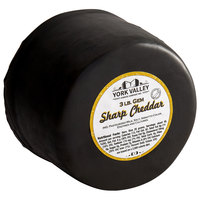 York Valley Cheese Company Druck's 3 lb. Sharp Yellow Cheddar Cheese Gem Wheel
