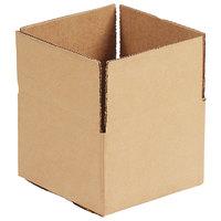 6 inch x 4 inch x 4 inch Kraft Shipping Box - 25/Bundle