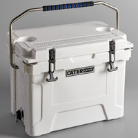 CaterGator CG20WH White 20 Qt. Rotomolded Extreme Outdoor Cooler / Ice Chest