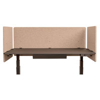 Luxor RCLM3D6024DS RECLAIM Desert Sand Desk Mount Privacy Panel Set with (1) 60 inch x 24 inch Panel and (2) 24 inch x 24 inch Panels