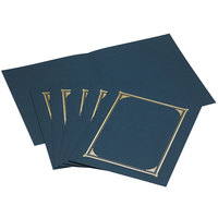 Geographics 45332 9 3/4 inch x 12 1/2 inch Navy Blue Document Cover   - 6/Pack