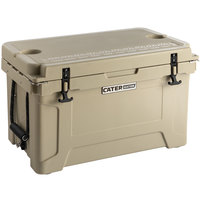 CaterGator CG45TAN Tan 45 Qt. Rotomolded Extreme Outdoor Cooler / Ice Chest