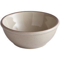16 oz. Brown Speckle Narrow Rim China Nappie Dish / Bowl - 36/Case