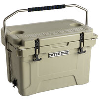 CaterGator CG20TAN Tan 20 Qt. Rotomolded Extreme Outdoor Cooler / Ice Chest