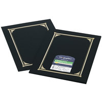 Geographics 45331 9 3/4 inch x 12 1/2 inch Black Document Cover   - 6/Pack