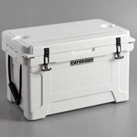CaterGator CG45WH White 45 Qt. Rotomolded Extreme Outdoor Cooler / Ice Chest