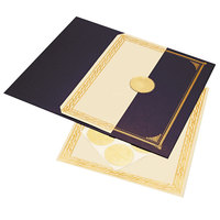 Geographics 47481 8 1/2 inch x 11 inch Foil Embossed Award Certificate Kit - 6/Pack