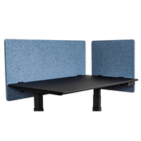 Luxor RCLM2D4824PB RECLAIM Pacific Blue Desk Mount Privacy Panel Set with (1) 24 inch x 24 inch Panel and (1) 48 inch x 24 inch Panel