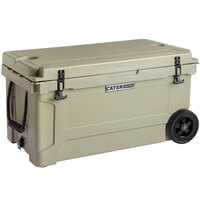 CaterGator CG65TANW Tan 65 Qt. Mobile Rotomolded Extreme Outdoor Cooler / Ice Chest