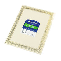 Geographics 45492 8 1/2 inch x 11 inch Foil Enhanced Pack of 24# Certificate Paper with Gold Flourish Border - 12/Sheets
