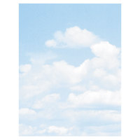Geographics 46887S 8 1/2 inch x 11 inch Clouds Pack of 24# Design Suite Paper - 100/Sheets