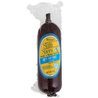 Seltzer's Lebanon Bologna Slim Slices Smoke'n Honey Beef Roll 8 oz. Chub - 15/Case
