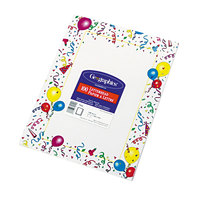 Geographics 39219 8 1/2 inch x 11 inch White Party Pack of 24# Design Suite Paper - 100/Sheets