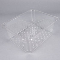Cambro 25CLRCW135 Camwear 1/2 Size Clear Polycarbonate Colander Pan - 5 inch Deep