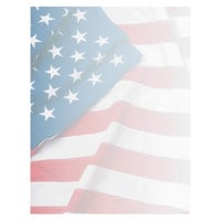 Geographics 46880S 8 1/2 inch x 11 inch American Flag Pack of 24# Design Suite Paper - 100/Sheets