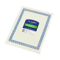 Geographics 20008 8 1/2 inch x 11 inch White Pack of 24# Certificate Paper with Blue Border - 50/Sheets