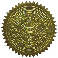 Geographic 20014 2 inch Gold Self-Adhesive Embossed Seal- 100 Sheets