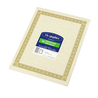 Geographics 21015 8 1/2 inch x 11 inch Natural Pack of 24# Certificate Paper with Diplomat Border - 50/Sheets