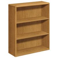 HON 10753CC 10700 Series Harvest Wood 3-Shelf Bookcase - 36 inch x 13 1/8 inch x 43 3/8 inch
