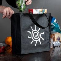 Elkay Plastics Small Black Non-Woven Reusable Shopping Bag - 200/Case