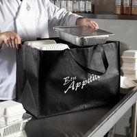 Elkay Plastics Large Black Non-Woven Reusable Catering Bag   - 50/Case