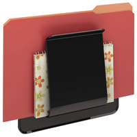 Deflecto 65504H Stand Tall 9 1/4 inch x 10 5/8 inch x 1 3/4 inch Black Oversized Wall File