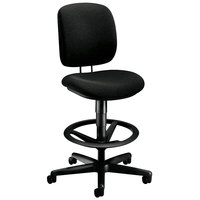 HON H5905 ComforTask Black Task Stool with Adjustable Foot Ring