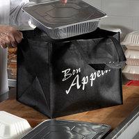 Elkay Plastics Small Black Non-Woven Reusable Catering Bag   - 100/Case