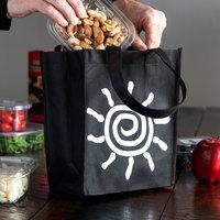 Elkay Plastics Extra-Small Black Non-Woven Reusable Shopping Bag - 300/Case
