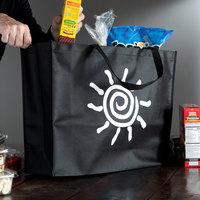 Elkay Plastics Extra-Large Black Non-Woven Reusable Shopping Bag - 100/Case