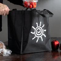 Elkay Plastics Medium Black Non-Woven Reusable Shopping Bag - 100/Case
