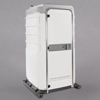 PolyJohn FS3-2008 Fleet White Premium Portable Restroom with Recirculating Flush Tank - Assembled