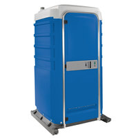 PolyJohn FS3-2001 Fleet Blue Premium Portable Restroom with Recirculating Flush Tank - Assembled