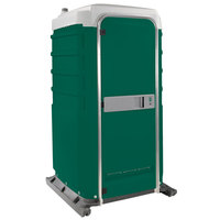 PolyJohn FS3-2003 Fleet Evergreen Premium Portable Restroom with Recirculating Flush Tank - Assembled